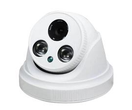 同轴阵列双灯红外半球监控摄像头